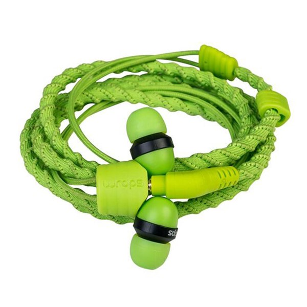 Wraps Classic Wristband Ear Headphones in Green
