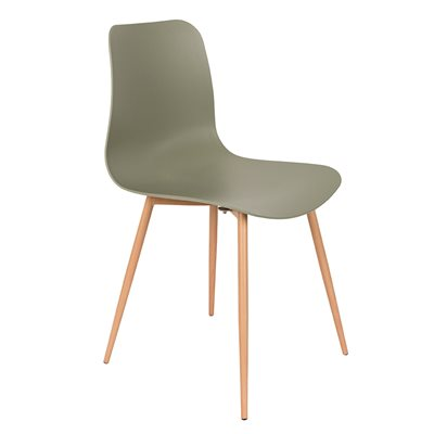 PAIR OF LEON DINING CHAIRS in Green