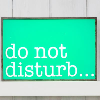 LIGHT BOX in Do Not Disturb Design