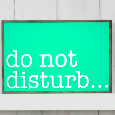 LIGHT BOX in Do Not Disturb Design