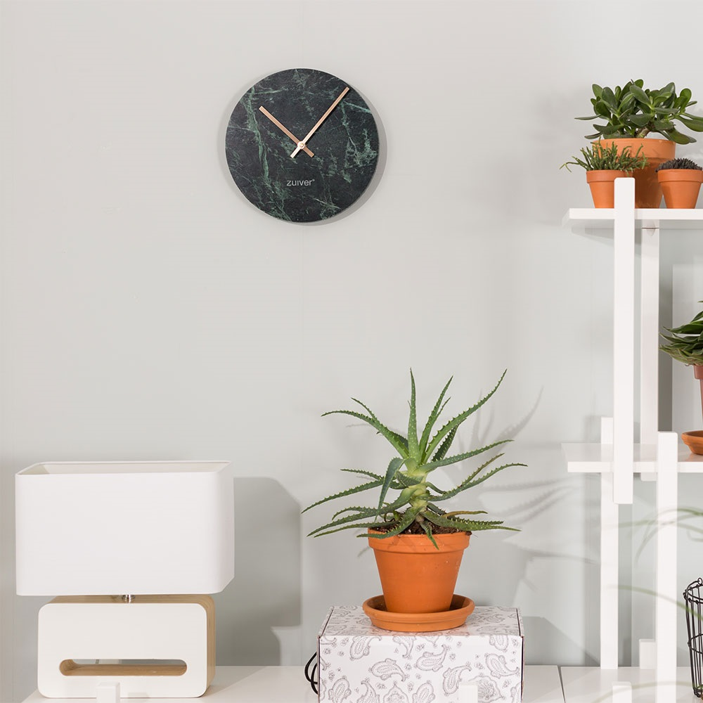 Zuiver Marble Time Wall Clock In Green - Zuiver | Cuckooland