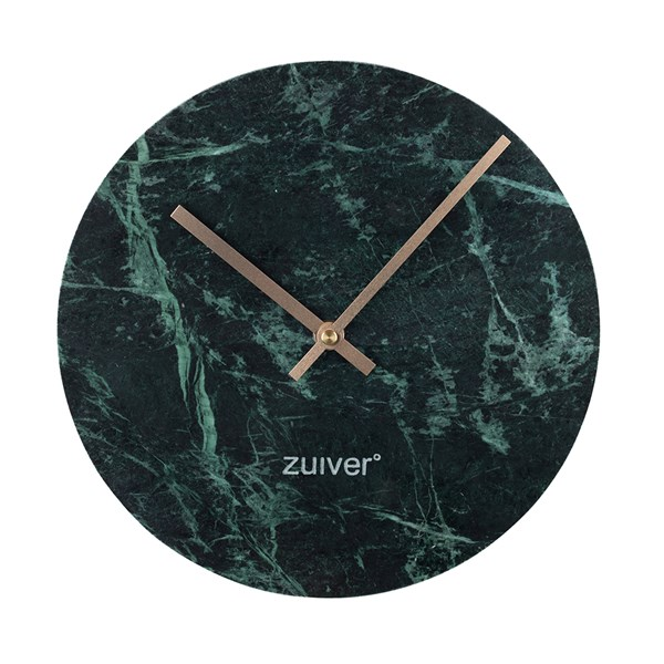 Marble Time Wall Clock in Green