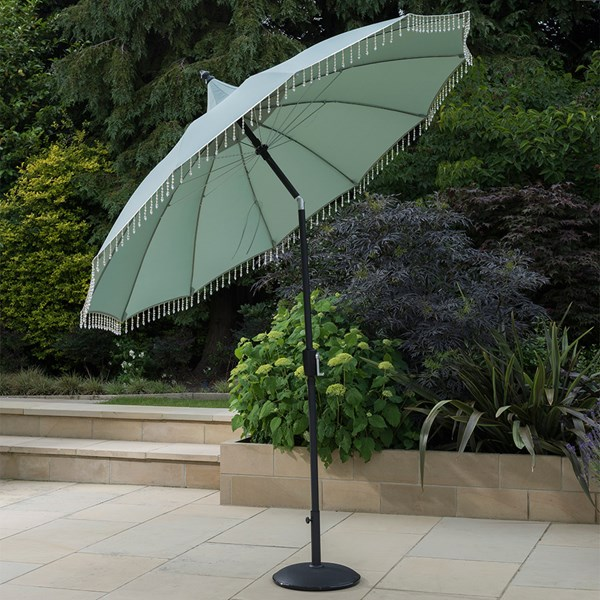 Norfolk Leisure Carrousel Aluminium Parasol in Green