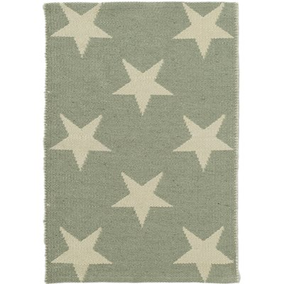 INDOOR OUTDOOR STAR RUG in Ocean Ivory