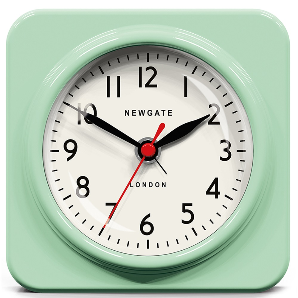 Newgate Biscuit Green Retro Alarm Clock