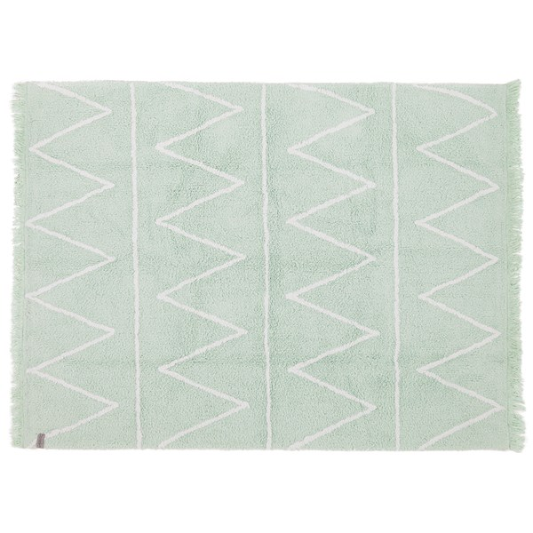 Washable Kids Rug in Soft Mint Green