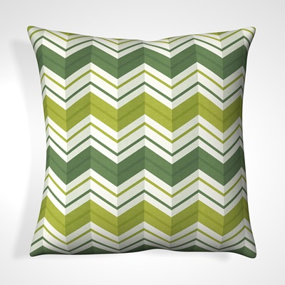 CUSHION in Avocada Striped Design
