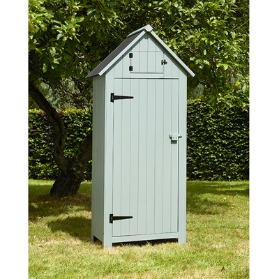 BEACH HUT TOOL SHED in Green