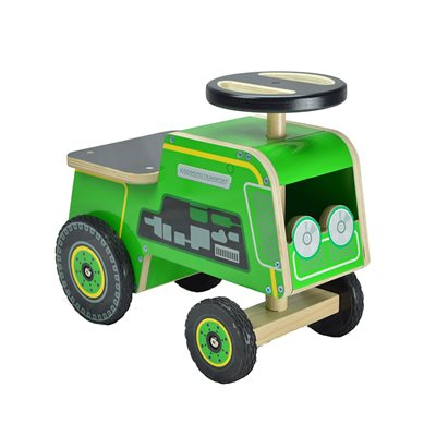 GREEN TRACTOR RIDE ON TOY by Kiddimoto