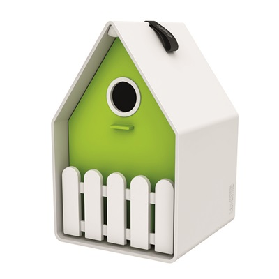 LANDHAUS ORIGINAL BIRD HOUSE in White and Green