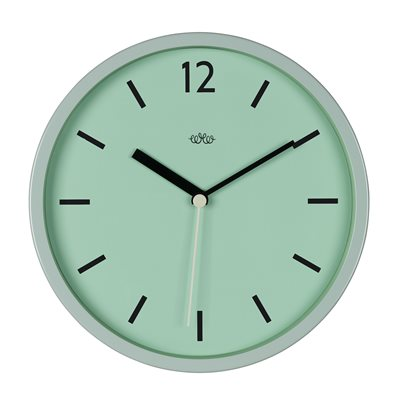 RETRO STYLE WALL CLOCK in Swedish Green