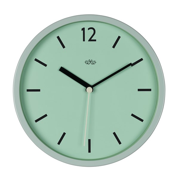 Retro Style Wall Clock in Swedish Green