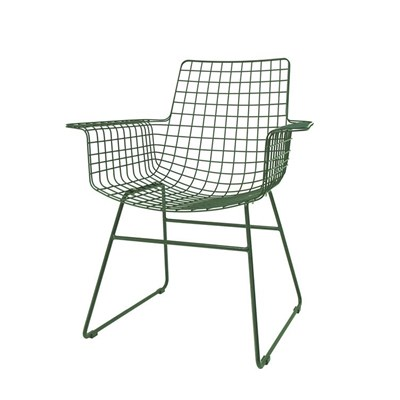 Awesome ... Green Wire Armchair