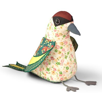 BRITISH GREEN WOODPECKER Bird Animal Doorstop by Dora Designs
