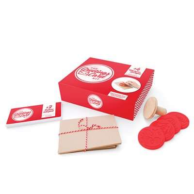 CARD MAKING KIT with Wooden Stamp Set