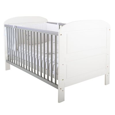 EAST COAST ANGELINA BABY & TODDLER COT BED in Grey