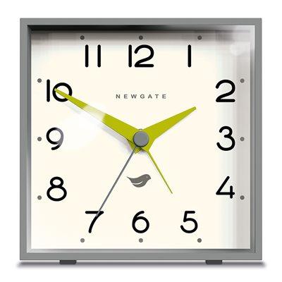 NEWGATE CUBIC Retro Alarm Clock in Grey