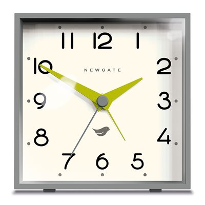 NEWGATE CUBIC Retro Alarm Clock in Grey