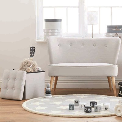Superb Grey Button Kids Bedroom Sofa ...