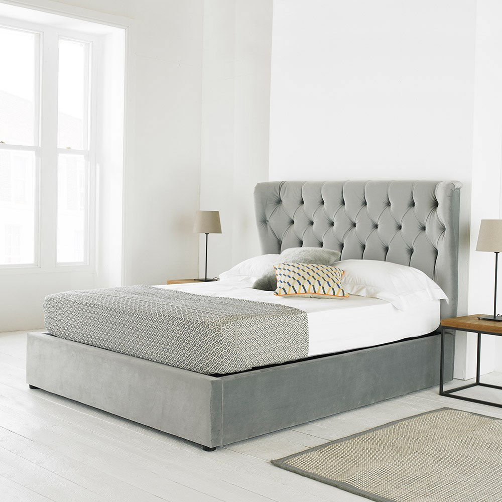 Fine Copenhagen Upholstered Ottoman Bed In Mid Grey Ncnpc Chair Design For Home Ncnpcorg