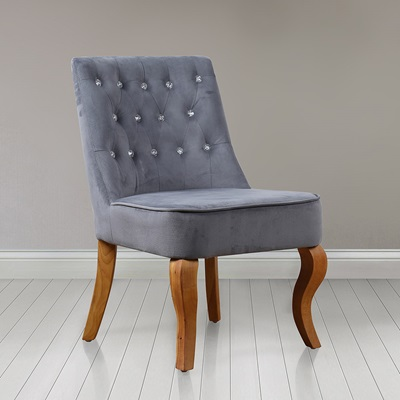 DARCEY UPHOLSTERED ARMCHAIR in Grey By Birlea