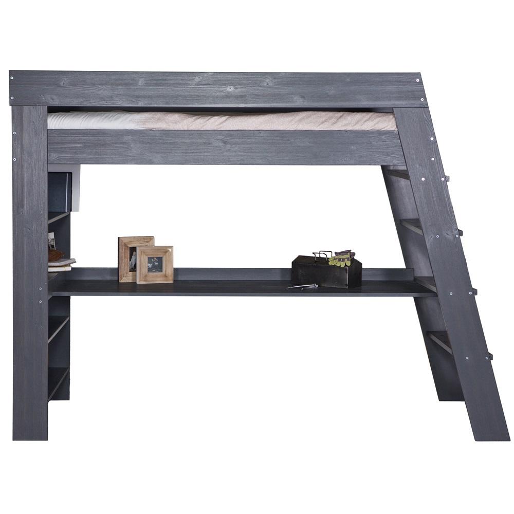 Grey Kids Loft Bed And Desk Jpg