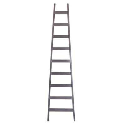 MODERN INTERIOR LADDER in Grey Painted Mahogany