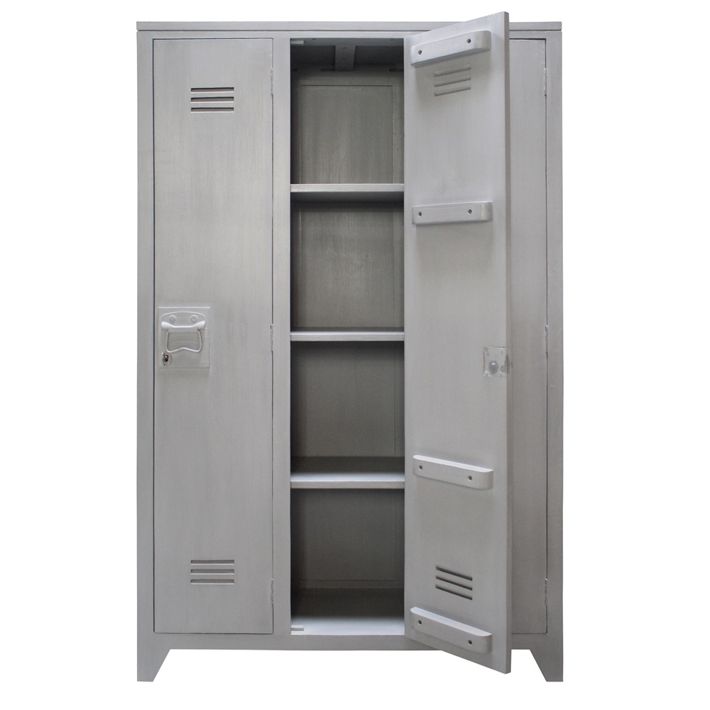 Locker Style Bedroom Furniture Locker Style Storage Cabinet With Shelves In Grey Mango Wood Cabinet