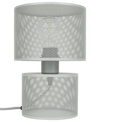 METAL GRID TABLE LAMP in Grey