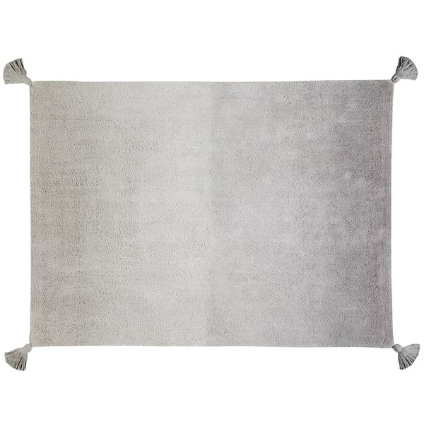 Grey Tie Dye Effect Floor Carpet
