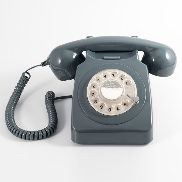 Retro Style Telephone in Grey