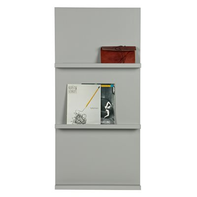 WALL MOUNTED DISPLAY SHELF in Concrete Grey