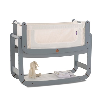 SNUZPOD 2 3-in-1 BEDSIDE CRIB with Mattress in Dove Grey