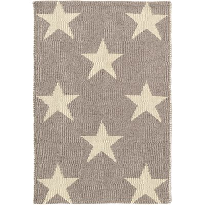 INDOOR OUTDOOR STAR RUG in Grey Ivory