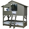 Kids Treehouse Bunk Bed in Artichoke Grey