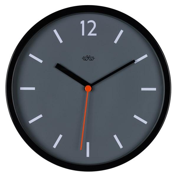 Retro Style Wall Clock in Concrete Grey