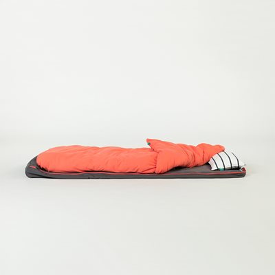 BUNDLE BEDS ROLL UP GUEST BED in Grey and Coral