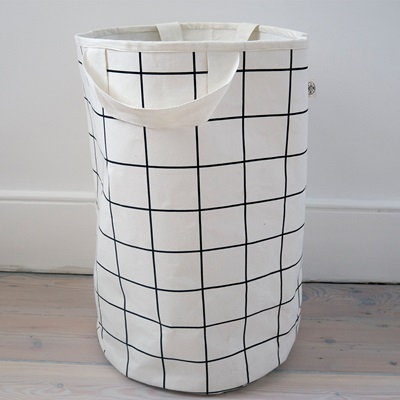 Wildfire Kids Toy Storage Bag in Grid with White Handles