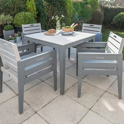 GRIGIO WOODEN DINING SET