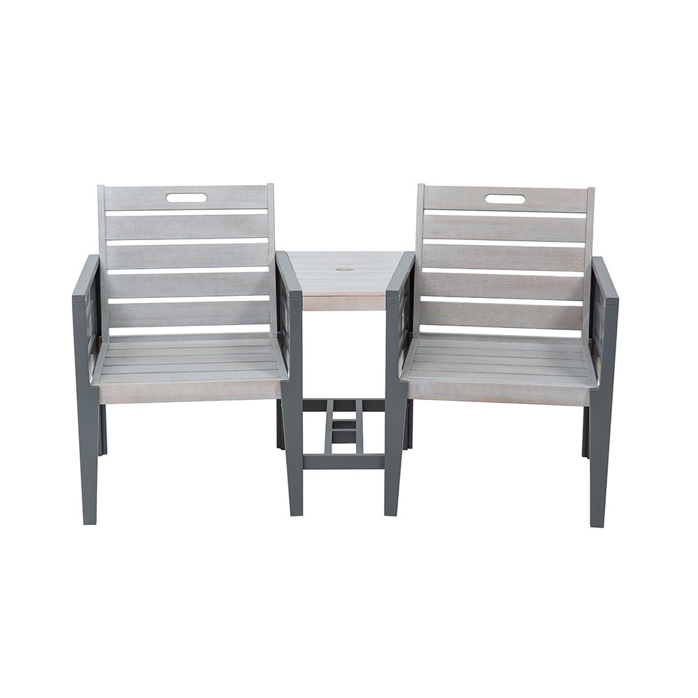 grigio tete a tete wooden garden bench norfolk leisure. Black Bedroom Furniture Sets. Home Design Ideas
