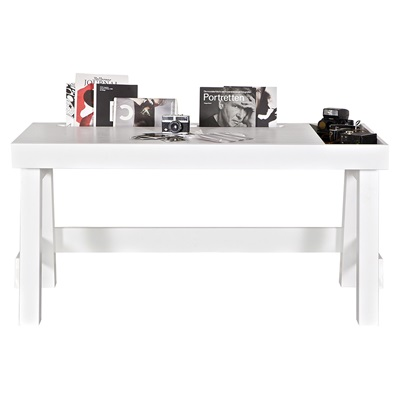 Contemporary Office & Computer Desk in White Pine by Be Pure Home