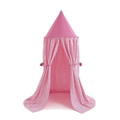 HANGING PLAY TENT in Candy Pink Gingham by Win Green