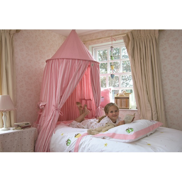 HANGING PLAY TENT Childrens Kids Bed Canopy in Candy Pink Gingham by ...
