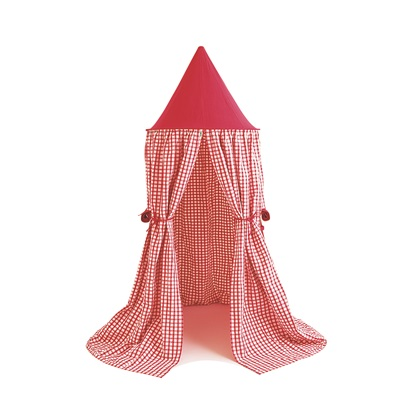 HANGING PLAY TENT in Cherry Red Gingham by Win Green