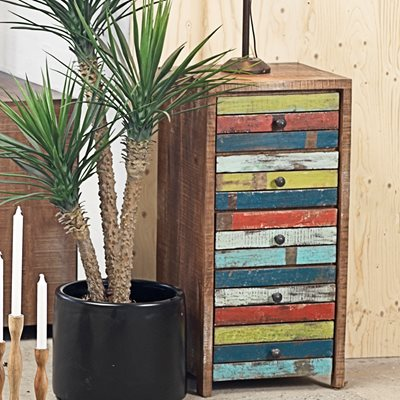 RUSTIC HAITI WOODEN CHEST OF DRAWERS