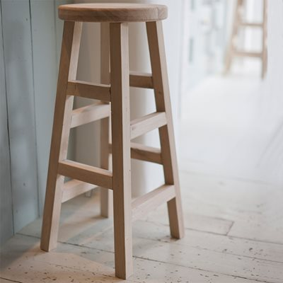 GARDEN TRADING LARGE HAMBLEDON STOOL in Raw Oak