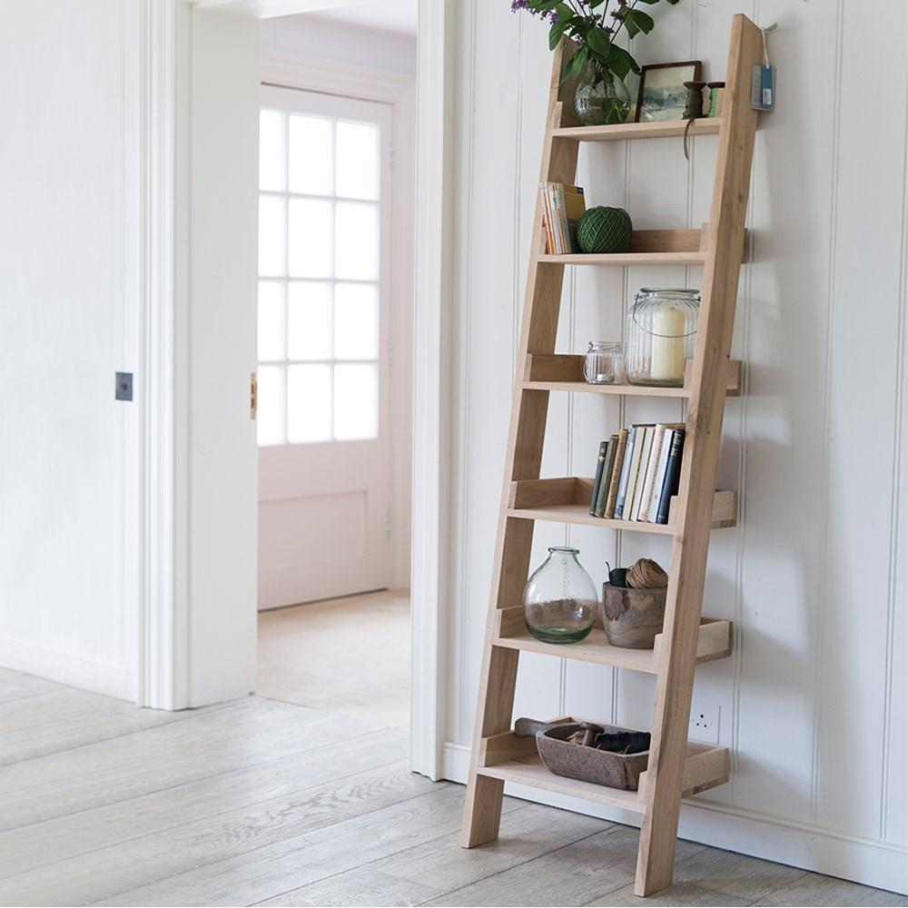 new style 50492 878a3 Garden Trading Hambledon Narrow Oak Ladder Shelf