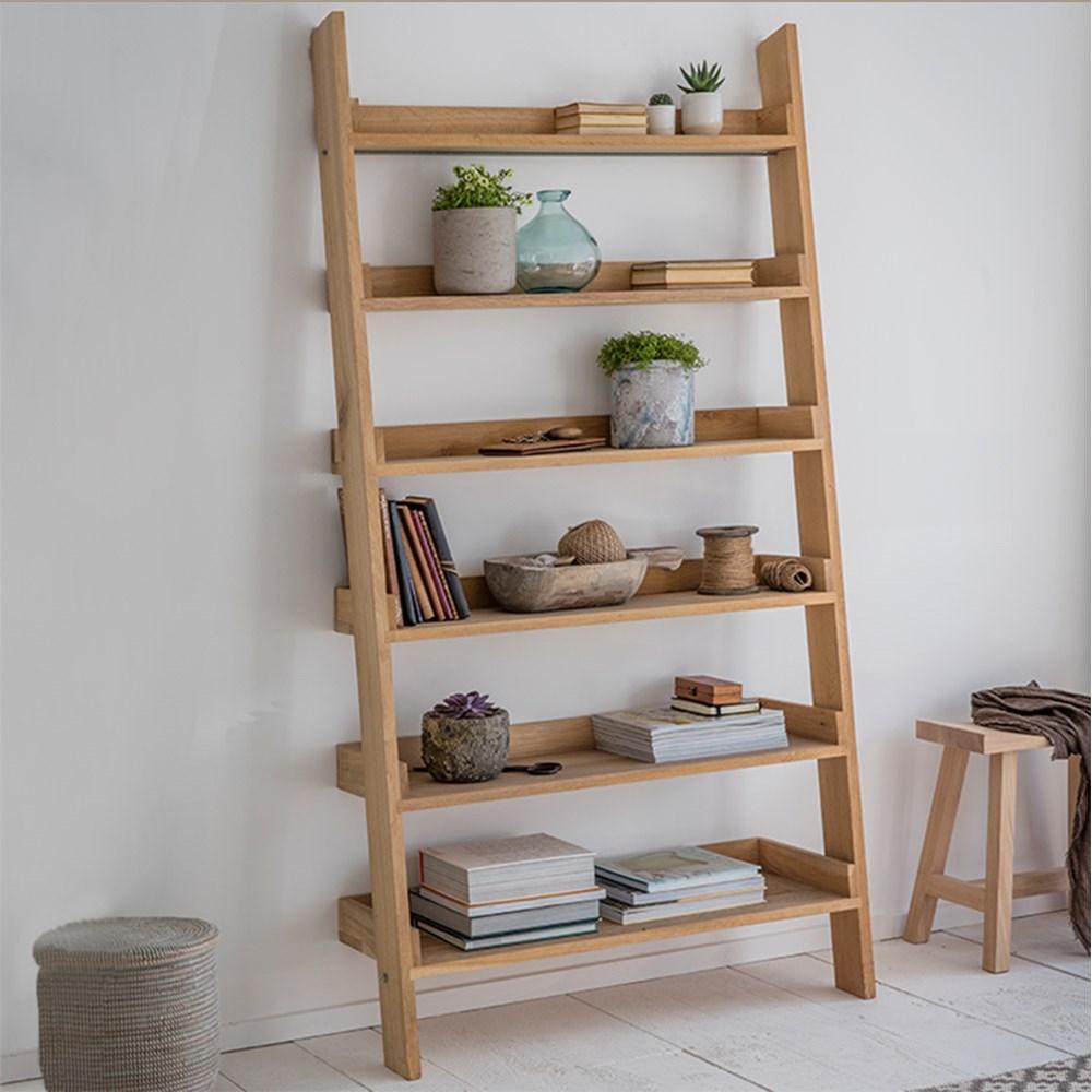 super popular f4f95 9f23e Garden Trading Hambledon Wide Oak Ladder Shelf