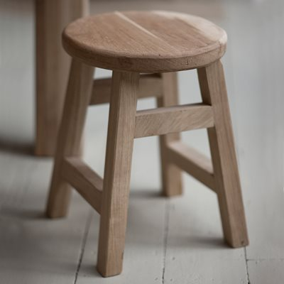 GARDEN TRADING SMALL HAMBLEDON STOOL in Raw Oak