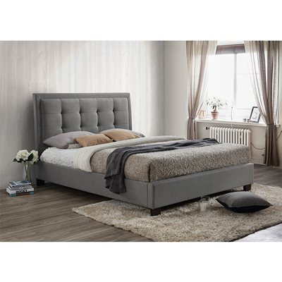 HAMILTON UPHOLSTERED BED in Grey by Birlea